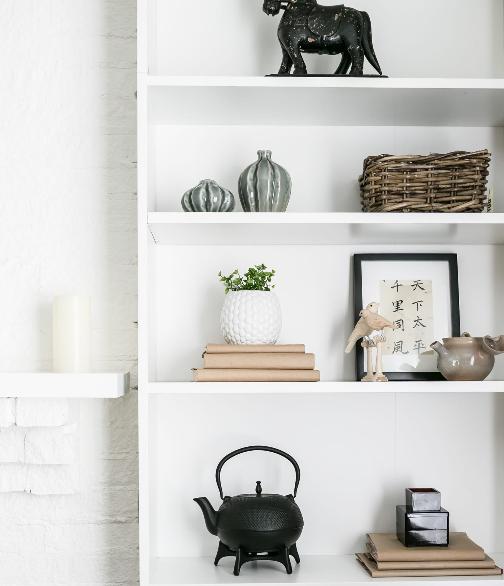 An example of built-in shelves that are sturdy, stylish and dependable.